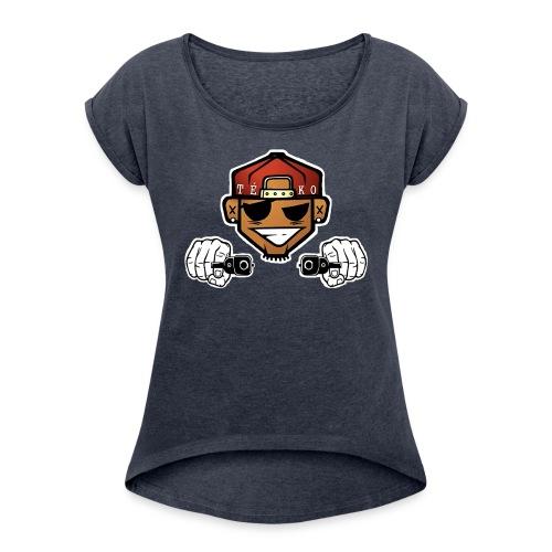 Tékoö png - Frauen T-Shirt mit gerollten Ärmeln