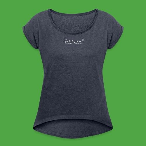 loggan2 copy - T-shirt med upprullade ärmar dam