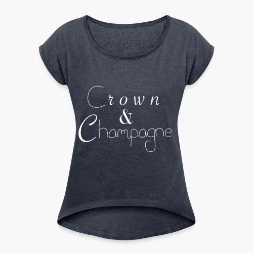Crown&Champagne - T-shirt à manches retroussées Femme