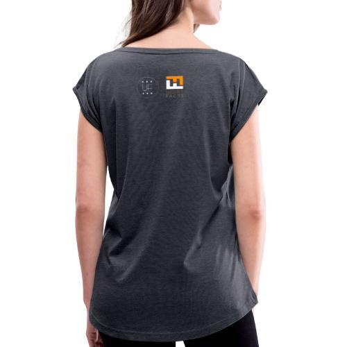 2 logo - T-shirt à manches retroussées Femme