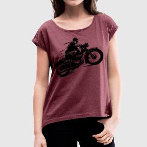 ClassicBike003 - Women's T-shirt with rolled up sleeves