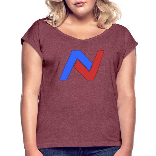 Noby N-Logo Merch - Frauen T-Shirt mit gerollten Ärmeln