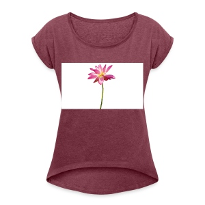 cutout-lotus-country-white-background-158767 - T-shirt med upprullade ärmar dam