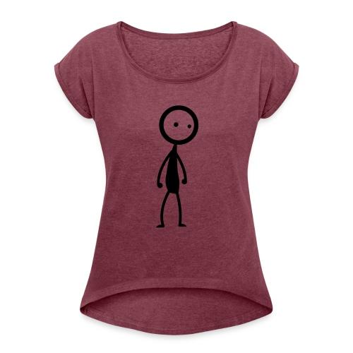 Stickyman Single - Frauen T-Shirt mit gerollten Ärmeln