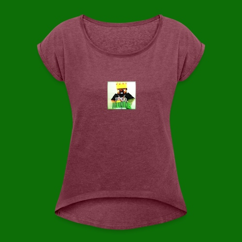 TrollKoning - Vrouwen T-shirt met opgerolde mouwen