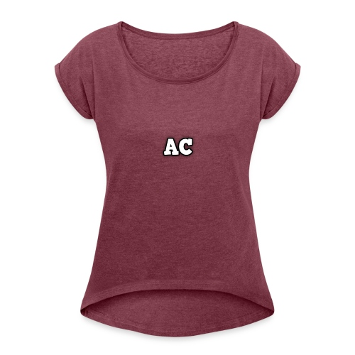 AC blur logo - Women's T-Shirt with rolled up sleeves