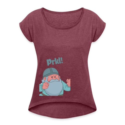 Mr.Prkl - Women's T-shirt with rolled up sleeves