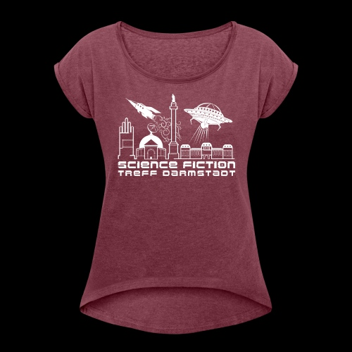 Science Fiction Treff Darmstadt - Frauen T-Shirt mit gerollten Ärmeln