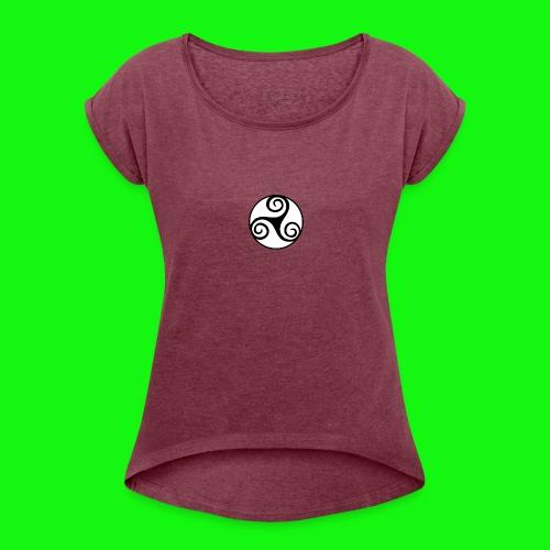 celtic-zen - T-shirt à manches retroussées Femme