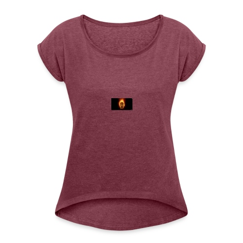 Scorched Logo - Women's T-Shirt with rolled up sleeves