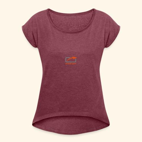 PS Logo Standard - Frauen T-Shirt mit gerollten Ärmeln
