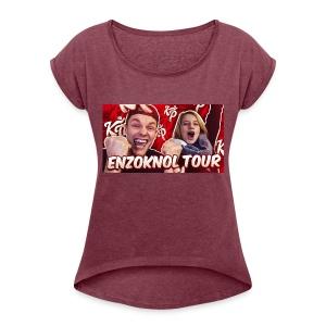 EnzoKnol Tour - Vrouwen T-shirt met opgerolde mouwen