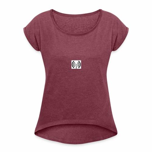 ILikeRadio Logo - Frauen T-Shirt mit gerollten Ärmeln