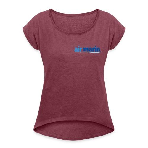 air marin - T-shirt à manches retroussées Femme