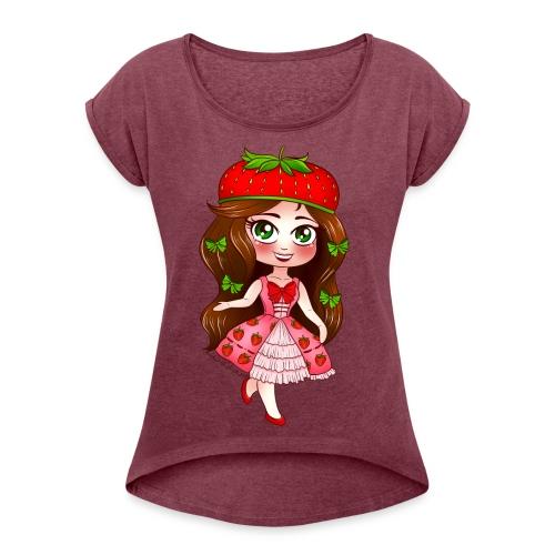 KIRIA FRAGOLA - Maglietta da donna con risvolti
