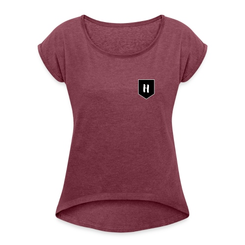 Hade - Camiseta con manga enrollada mujer