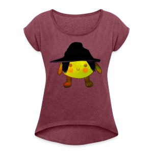 Sister Lemon M - Women's T-shirt with rolled up sleeves