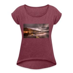 DjZ - Vrouwen T-shirt met opgerolde mouwen