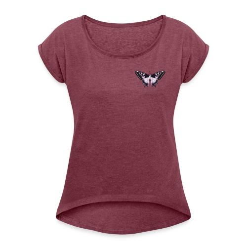 butterfly effect - Vrouwen T-shirt met opgerolde mouwen