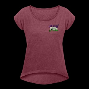 RF MONEY MAKER - Women's T-shirt with rolled up sleeves