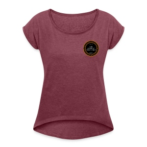 Aberrent Founders Logo - Women's T-shirt with rolled up sleeves