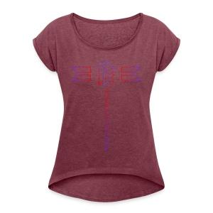 Djekkins First Design - T-shirt à manches retroussées Femme