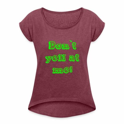 dontyell - Frauen T-Shirt mit gerollten Ärmeln
