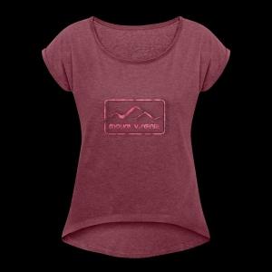 Mount Virginia woman - Frauen T-Shirt mit gerollten Ärmeln