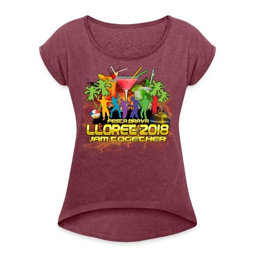 Lloret De Mar 2018 - Frauen T-Shirt mit gerollten Ärmeln