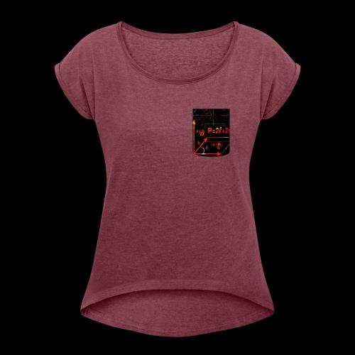 Mathe Physik Wissenschaft Lehrer Pocket Design - Frauen T-Shirt mit gerollten Ärmeln