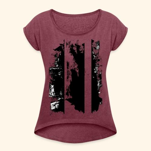 Brush Art - Frauen T-Shirt mit gerollten Ärmeln