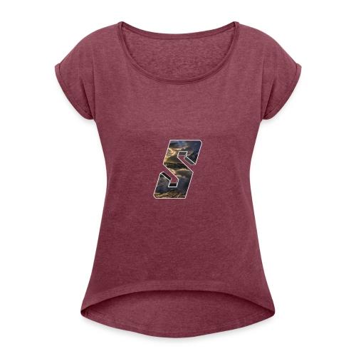 Sivert&Co Logo - T-skjorte med rulleermer for kvinner