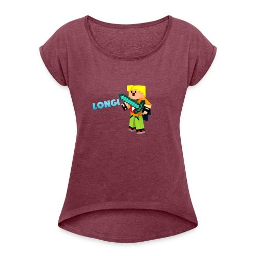 Kämpfender Longi Shirts - Frauen T-Shirt mit gerollten Ärmeln