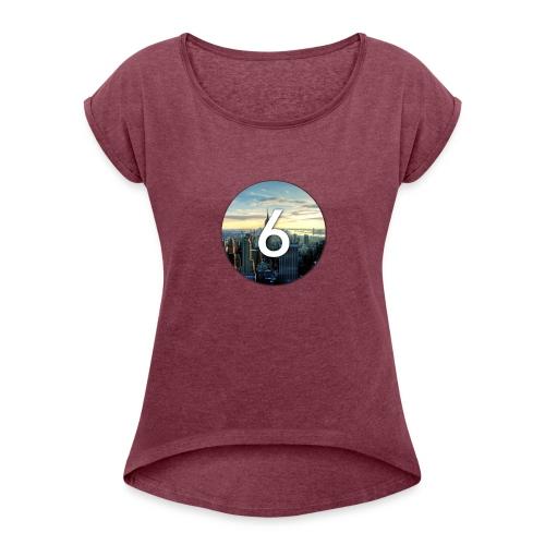 6 city - T-shirt à manches retroussées Femme