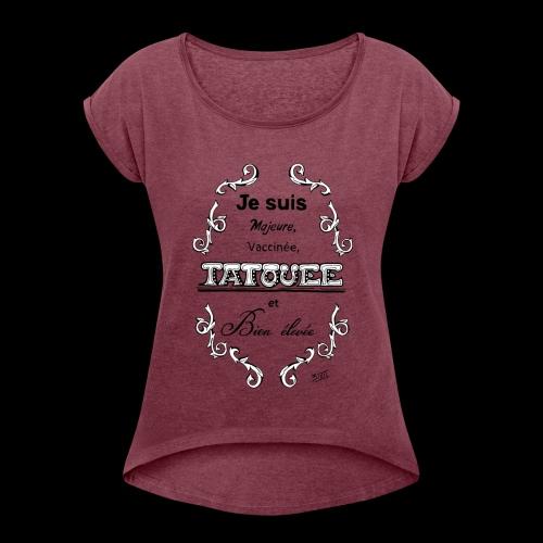 je suis - T-shirt à manches retroussées Femme
