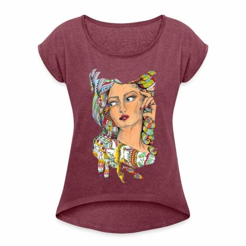swag23 - Frauen T-Shirt mit gerollten Ärmeln