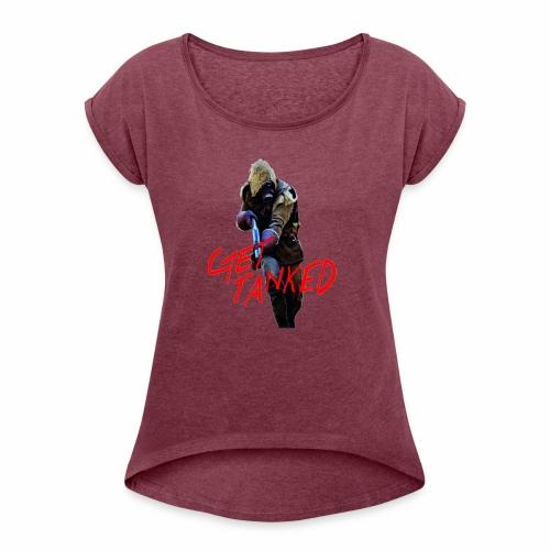 GET TANKED - T-shirt med upprullade ärmar dam