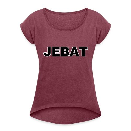 Jebat outline - Frauen T-Shirt mit gerollten Ärmeln