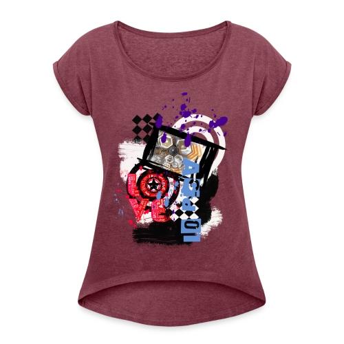 NMA 724 - Frauen T-Shirt mit gerollten Ärmeln