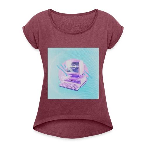 virtual - Frauen T-Shirt mit gerollten Ärmeln