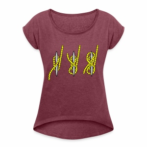 knots - Women's T-shirt with rolled up sleeves