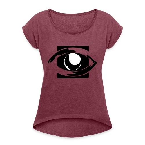 eos3 - Frauen T-Shirt mit gerollten Ärmeln