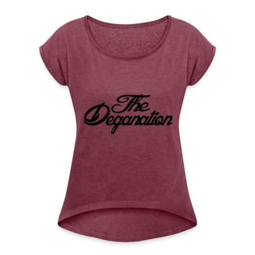 The Deganation - T-skjorte med rulleermer for kvinner