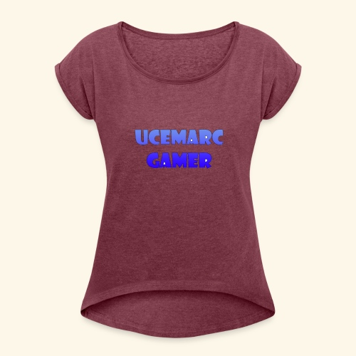 Channel Logo - Women's T-Shirt with rolled up sleeves