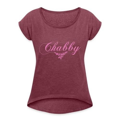 chabby - Frauen T-Shirt mit gerollten Ärmeln