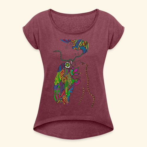 Love and Redemption Merchandise - Women's T-shirt with rolled up sleeves