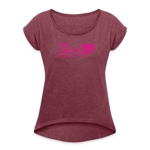 Ksiezniczka - Koszulka damska z lekko podwiniętymi rękawami