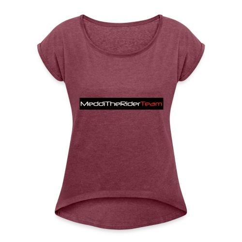 MeddiTheRiderTeam - Maglietta da donna con risvolti