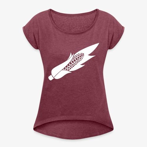 pannocchia monocolor - Maglietta da donna con risvolti