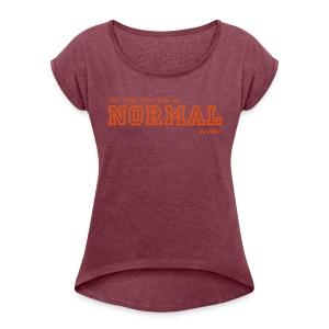 NORMAL - Frauen T-Shirt mit gerollten Ärmeln